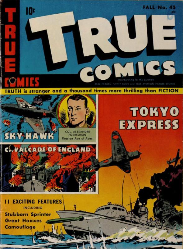 Уникальный американский комикс 1945 года о советском лётчике Покрышкине с переводом.