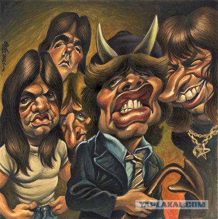 Карикатуры на рок-музыкантов