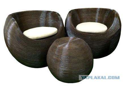Мебель из РОТАНГА, подвесные кресла, садовая мебель, кресла качалки и многое другое.