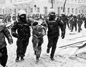 Михомайдан смешали с кровью и снегом