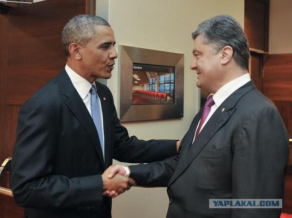 Обама встретился с Парашенко в Польше