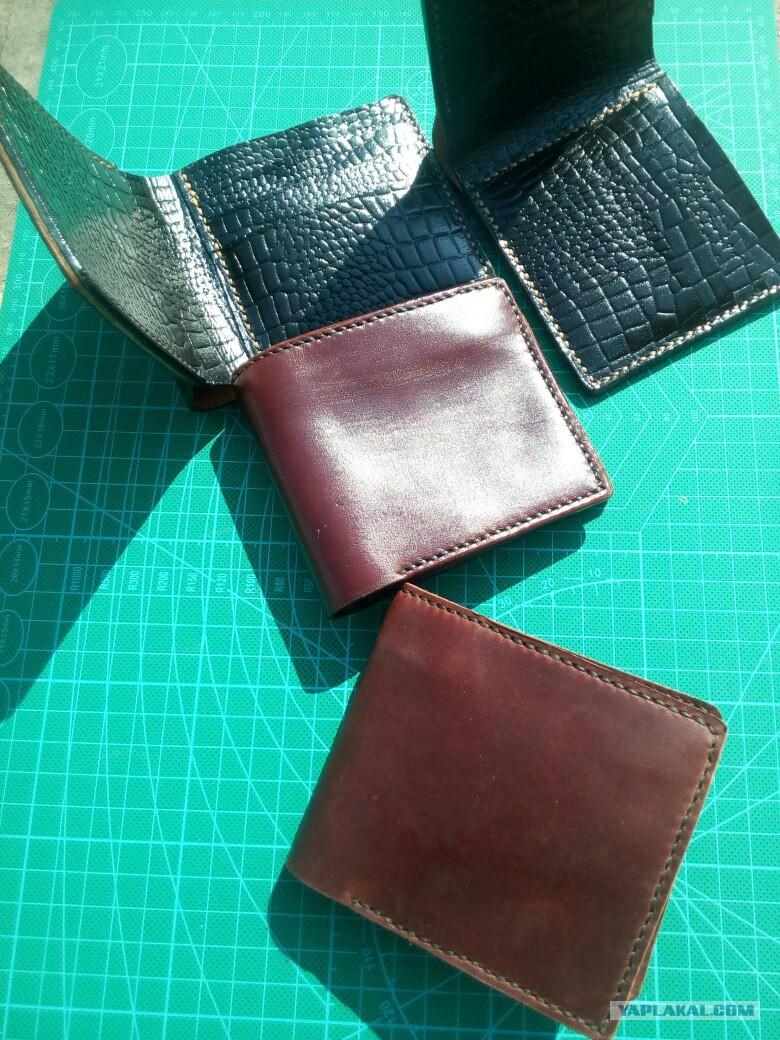 Как своими руками сделать бумажник из кожи 88