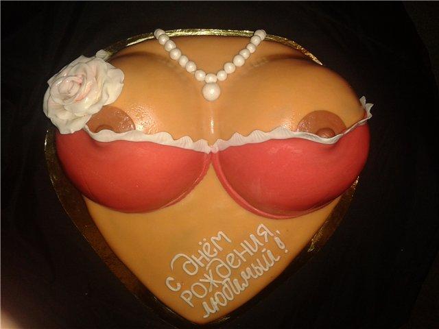 Как самостоятельно приготовить торт в виде женской груди фото. Торты на за