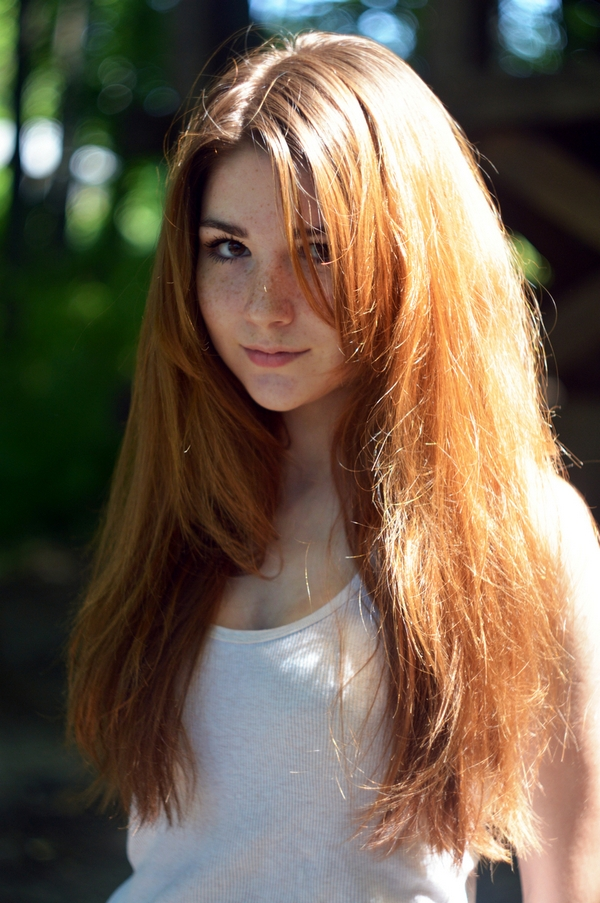 очень красивые фото рыжих девушек