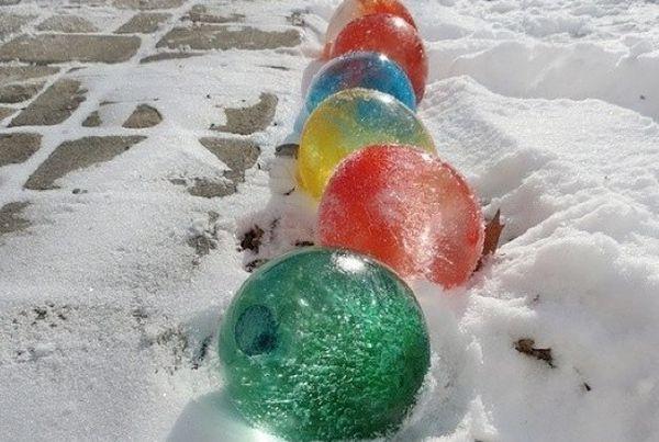Как сделать ледяные шары из воздушных