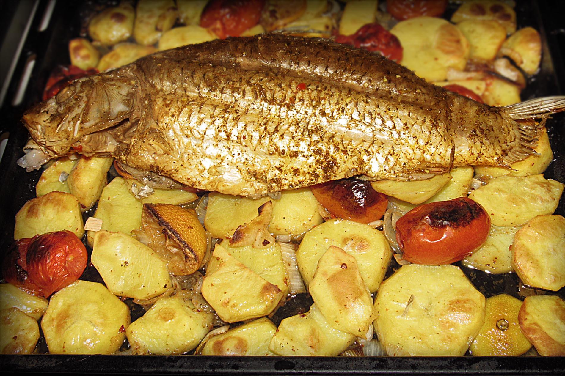 Рецепт судака кусочками в духовке