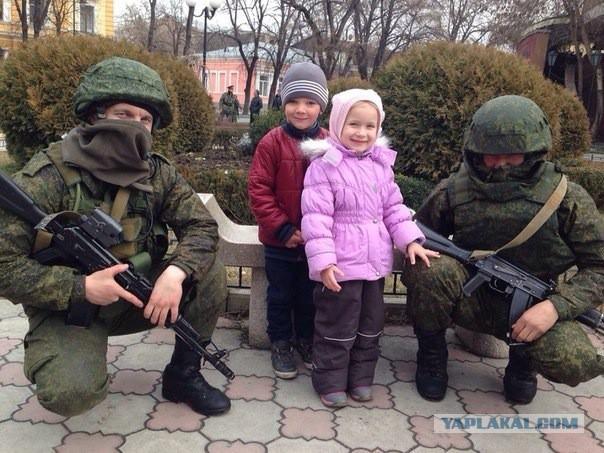 Крым русские идут видео