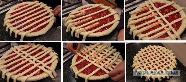 Как украсить открытые пироги