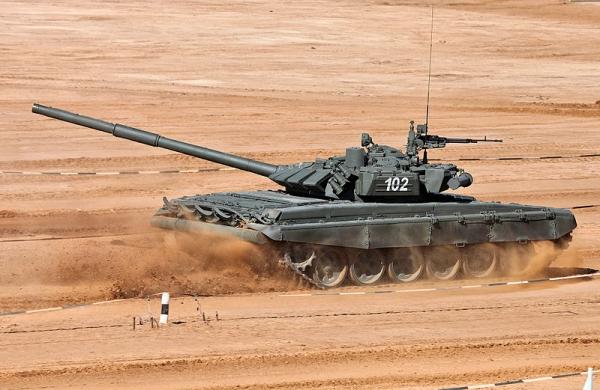 Сирийский Т-72 дважды ушел от противотанковой ракеты