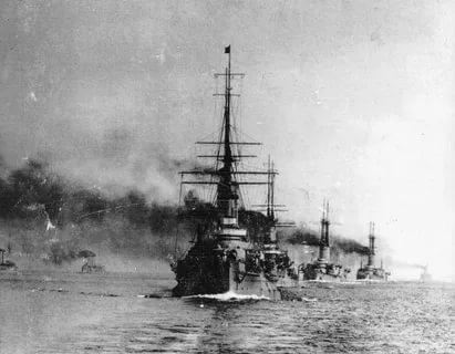 Русско-японская война 1904-1905 гг. Бой в Желтом море 28 июля 1904 г.Попытка прорыва эскадры во Владивосток.