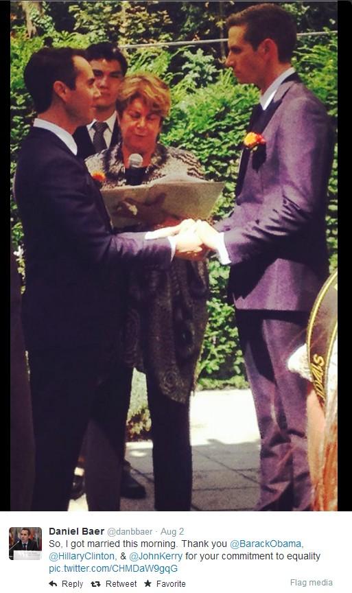 Посол США вступил в гей-брак