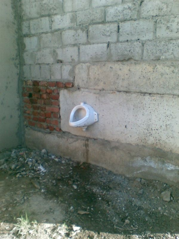 Гаражный туалет высокой культуры!