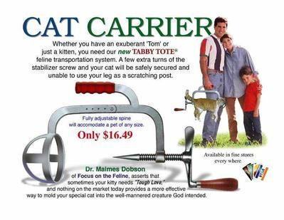 ...для переноски котов, но можно модифицировать и для пассажира.