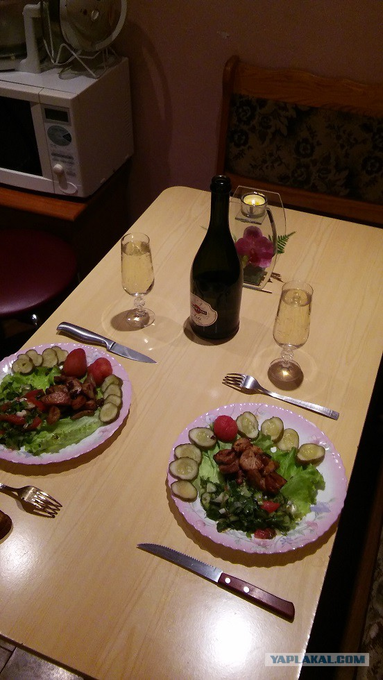 Ужин для любимому в домашних условиях
