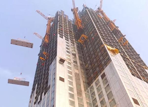 Китайцы построили 57-этажный небоскреб за 19 дней