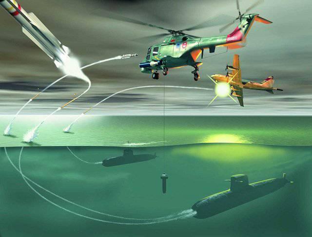 Ожесточенные сражения между авиацией и подводным флотом.