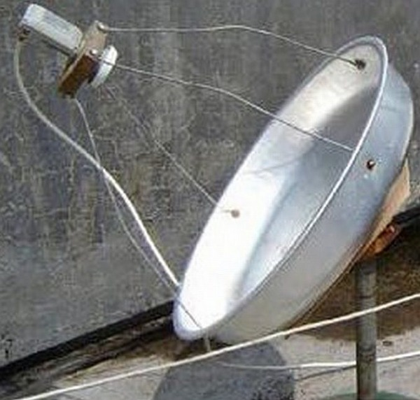 Сделать спутниковою тарелку. своими руками