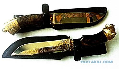 Продам ножи Златоустовские,гравировка золото 999,9
