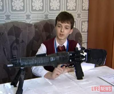 Школьник изобрел боевую винтовку