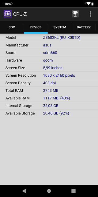 Продаю Asus Zenfone Max Pro M1