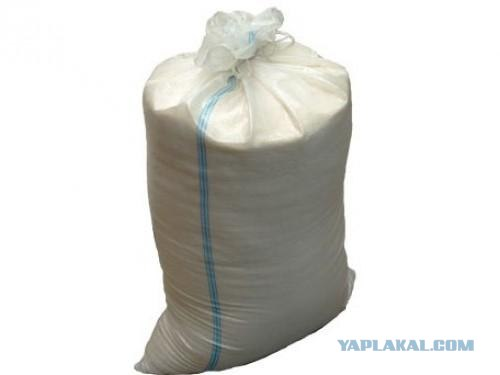 Полипропиленовый или полиэтиленовый(для песка) мешок.