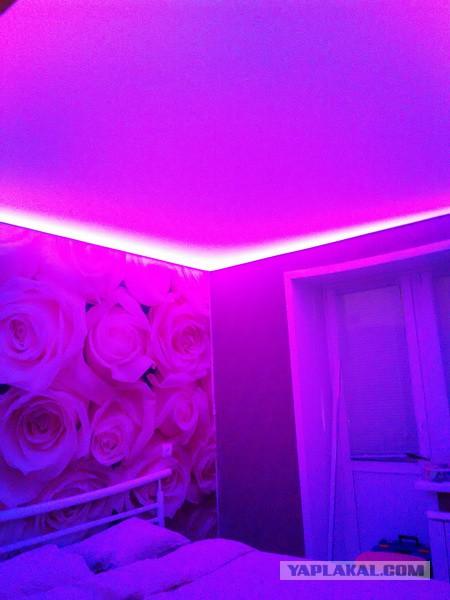 Как я натяжной потолок с подсветкой сделал