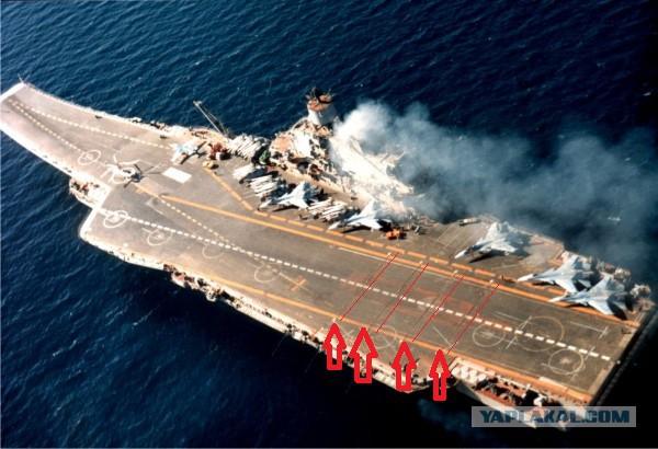 Кадры боевых вылетов авиации с палубы «Адмирала Кузнецова»