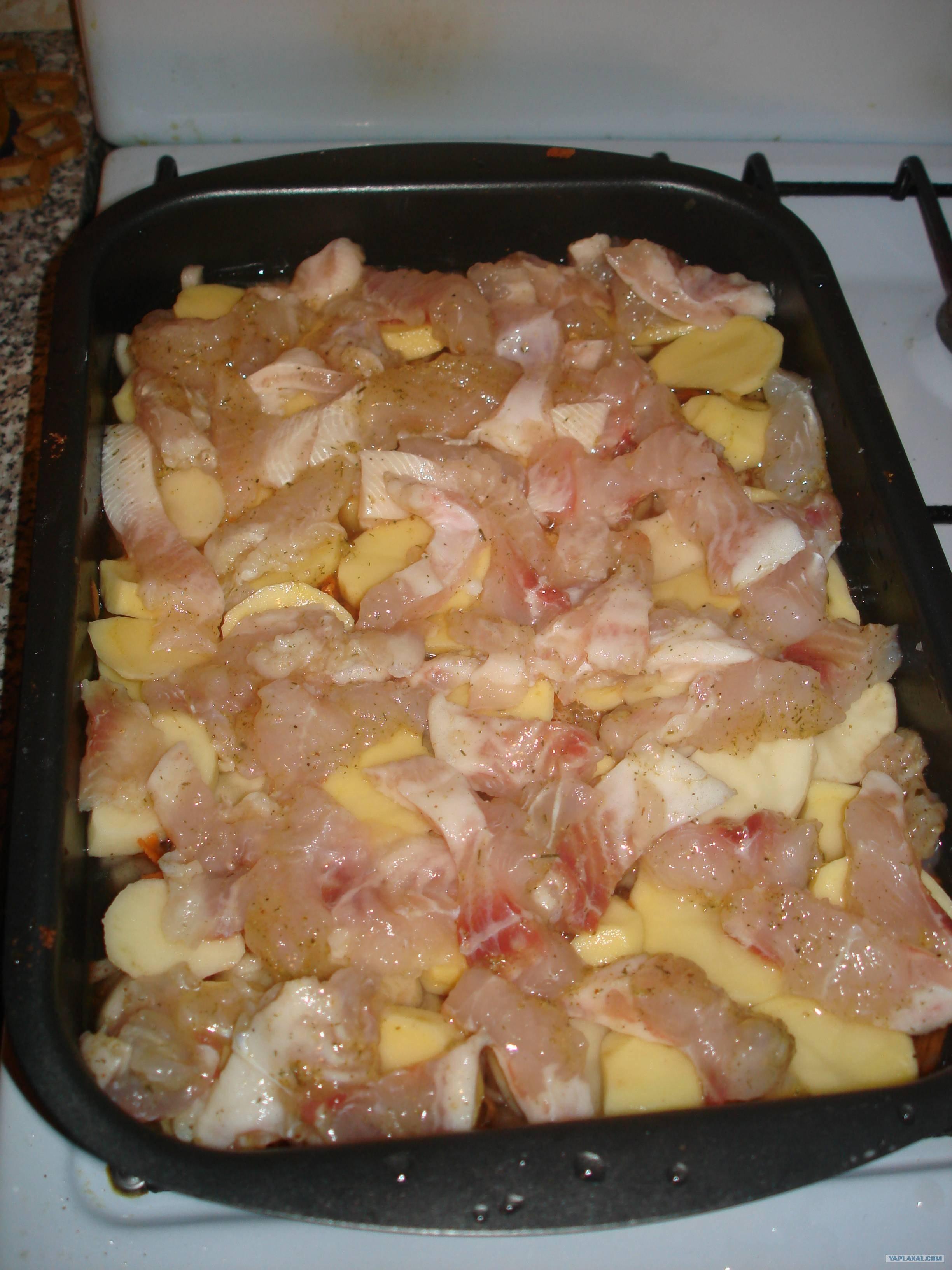 Язык морской с картошкойы