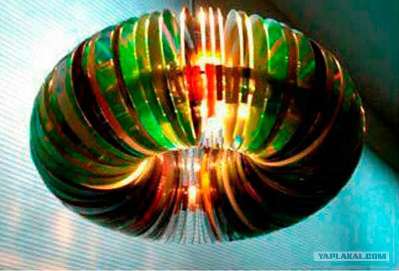 Люстра своими руками из дисков фото