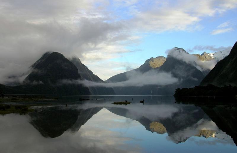 Залив Мильфорд в Новой Зеландии