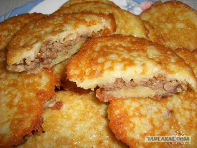 Оладьи картофельные с фаршем рецепт с фото