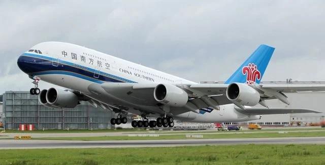 Модель самолёта A380 China Southern