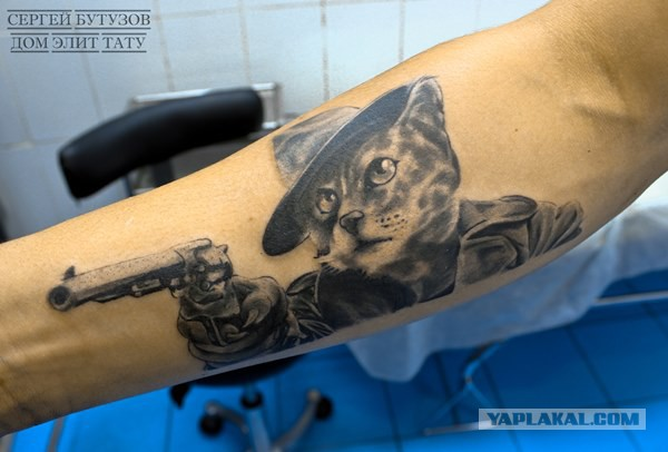 Милые кошачьи татуировки с интереснейшими идеями