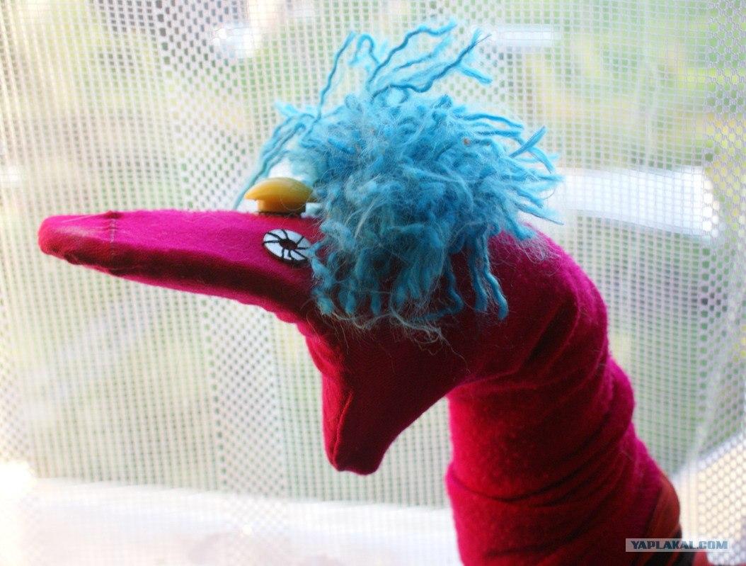 Как сделать куклу из носков на руку своими руками