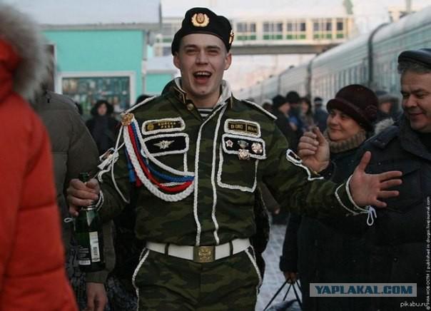 В Архангельске пьяные дембеля