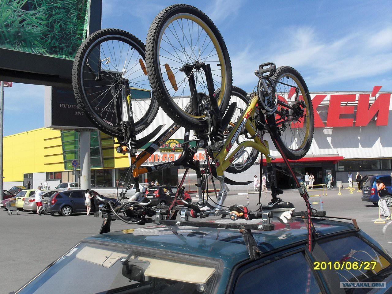 Как сделать крепление для велосипеда на крышу автомобиля