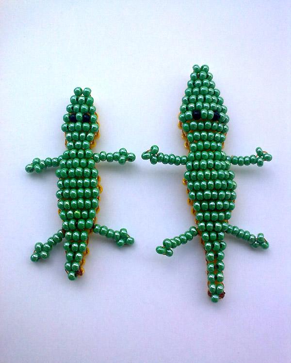 схемы бисероплетение крокодил - Современное бисероплетение.