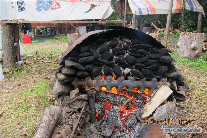 Печка для полевой бани своими руками 49