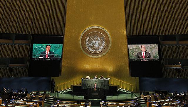 Представители США и Британии покинули зал ООН во время речи постпреда Сирии