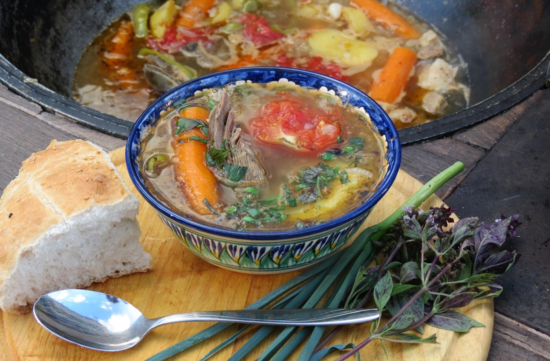 Шурпа из говядины рецепт узбекская на костре