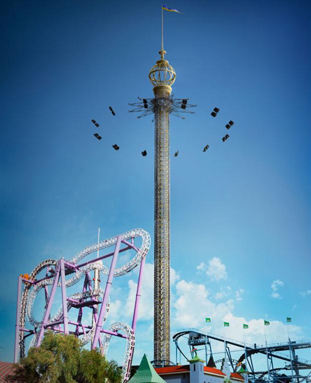 В Стокгольме открыли самую высокую карусель в мире