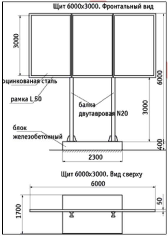 В Волгограде рекламный щит