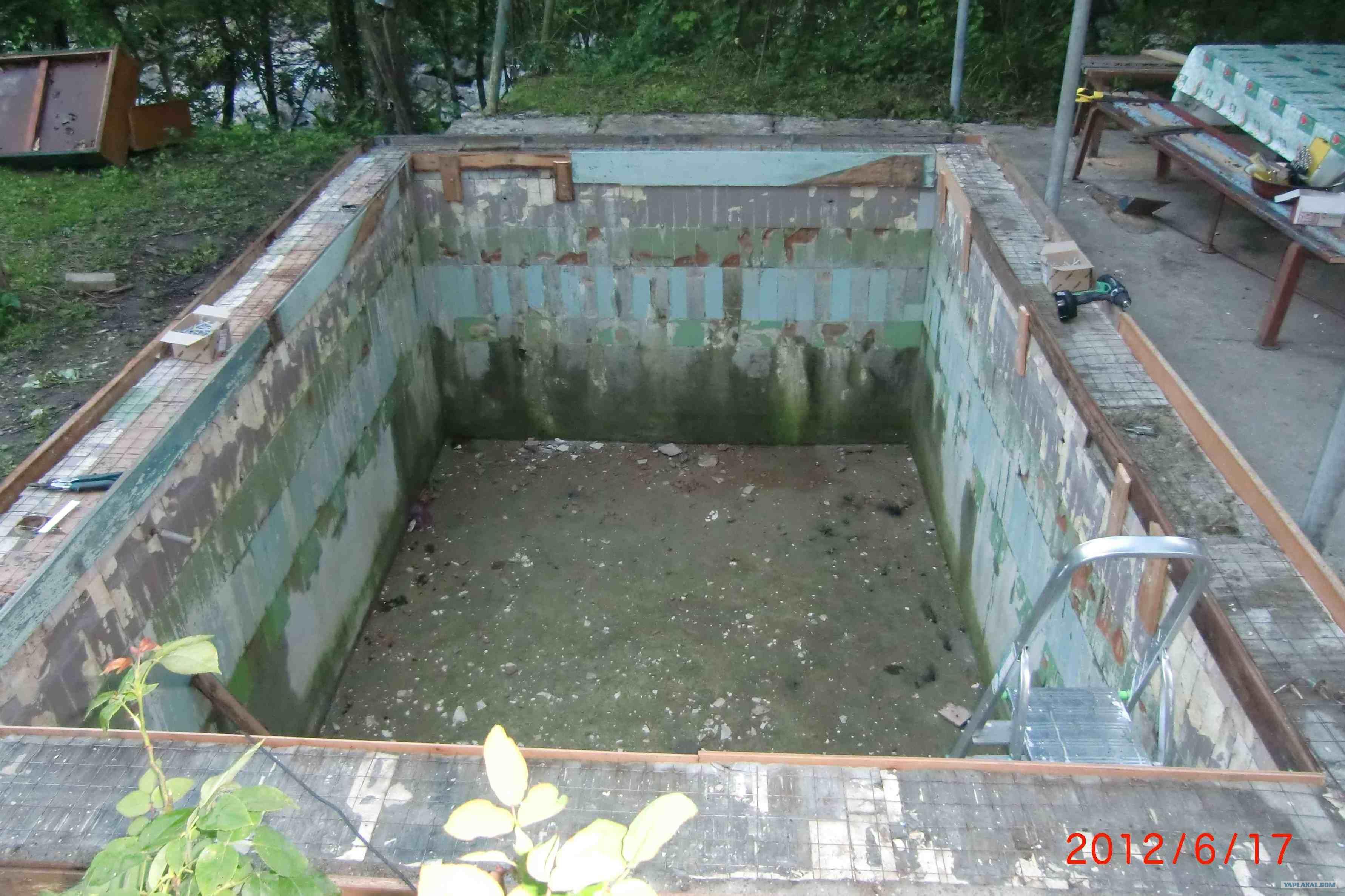 Как сделать бассейн на даче пошаговое фото