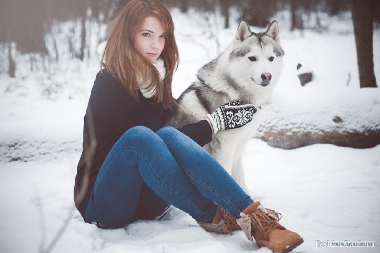 Фото ню в зимнем лесу 13 фотография