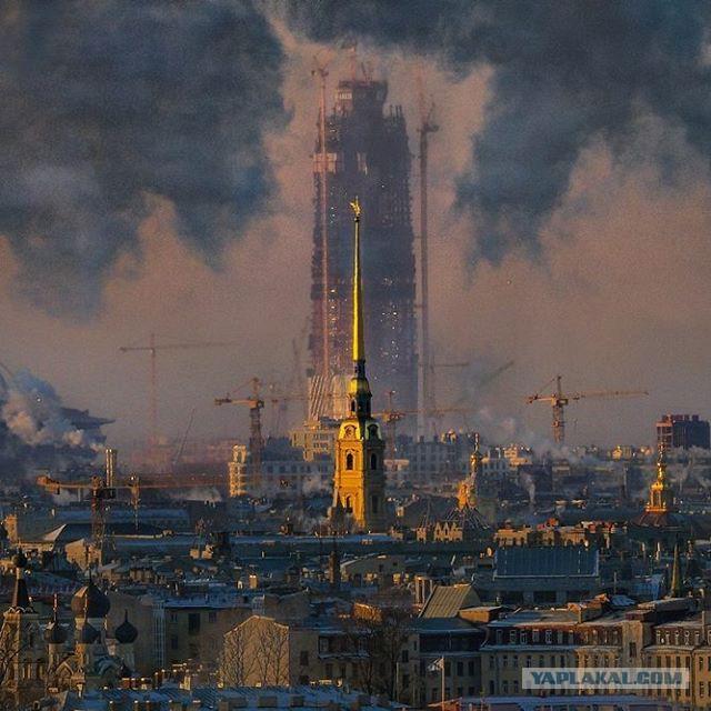 """Башня """"Газпрома"""" - самое высокое здание Европы"""