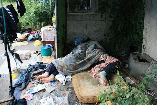 Быт Благовещенских бездомных