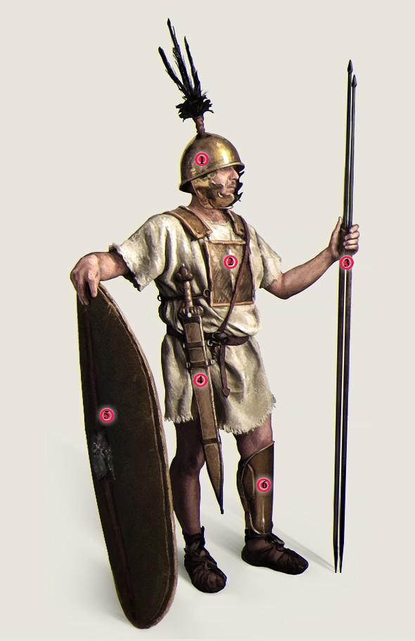 Экипировка античных воинов: легионер эпохи Пунических войн