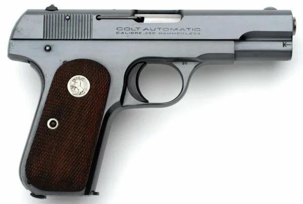Пистолет Colt Model 1903 Pocket Hammerless - шедевр оружейной эстетики.
