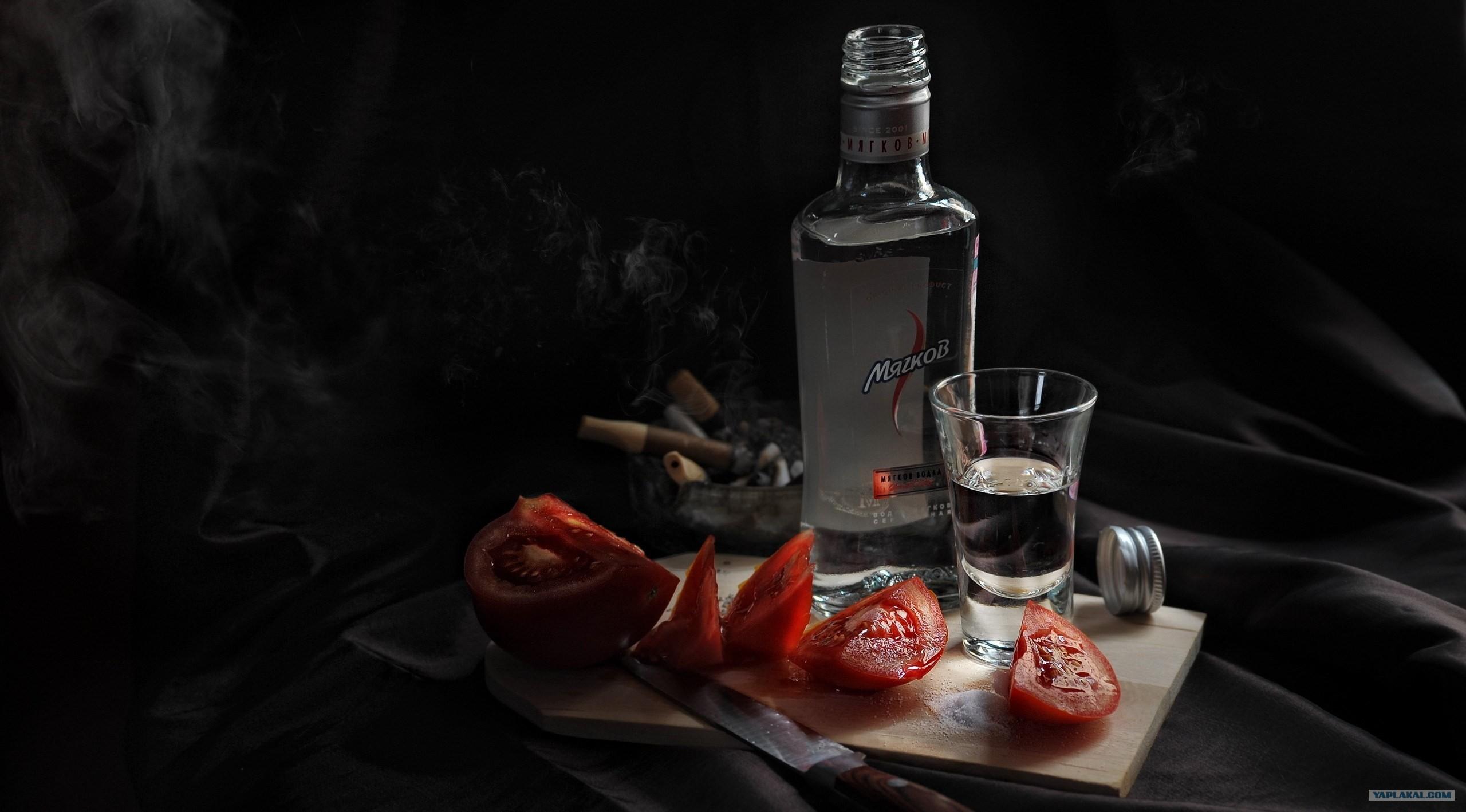 еда и водка фото