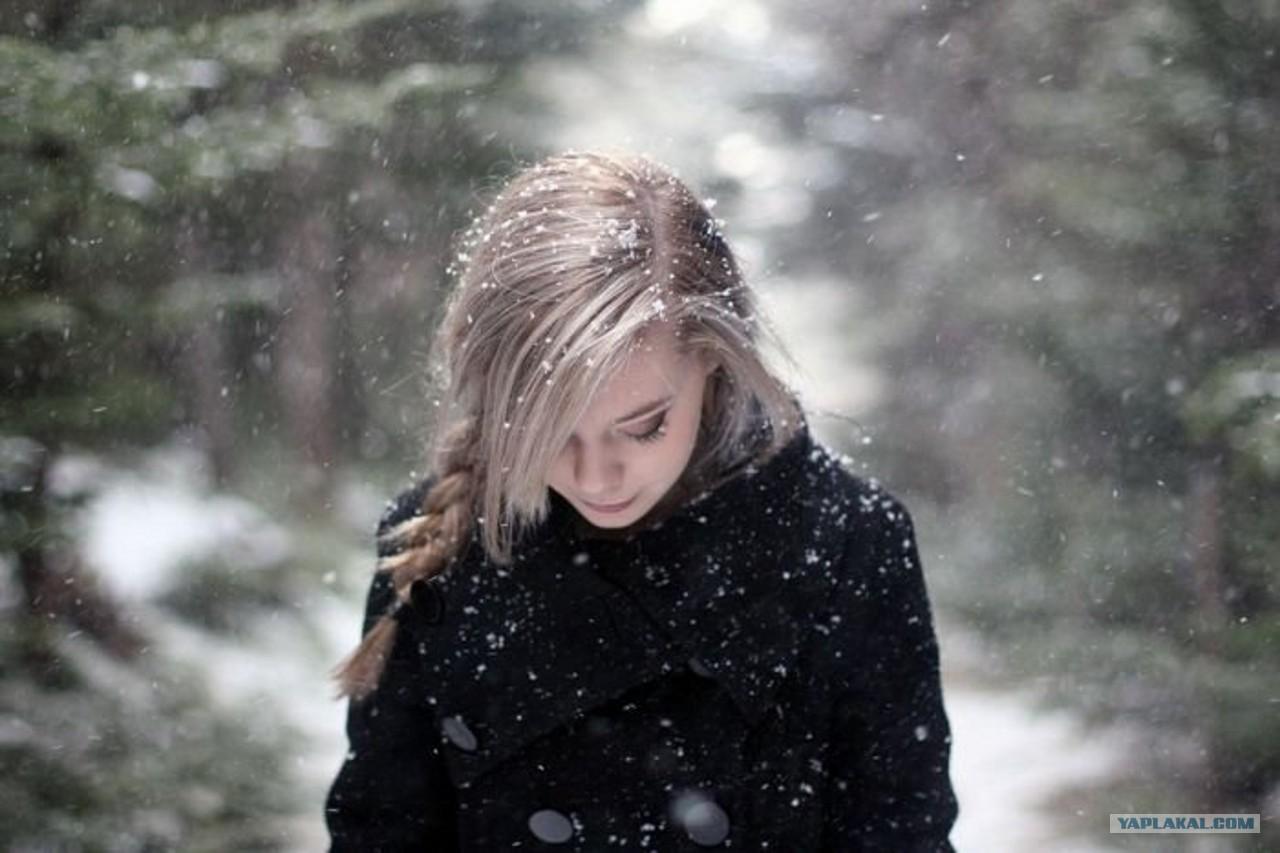 Фото девушка русая и снег 2 фотография